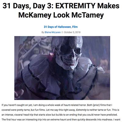 31 Days, Day 3: EXTREMITY Makes McKamey Look McTamey
