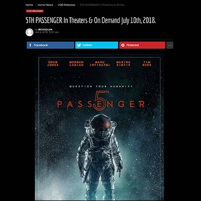 5TH PASSENGER In Theaters & On Demand July 10th, 2018.