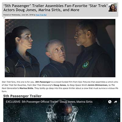 '5th Passenger' Trailer Assembles Fan-Favorite 'Star Trek' Actors Doug Jones, Marina Sirtis, and More