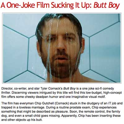 A One-Joke Film Sucking It Up: Butt Boy