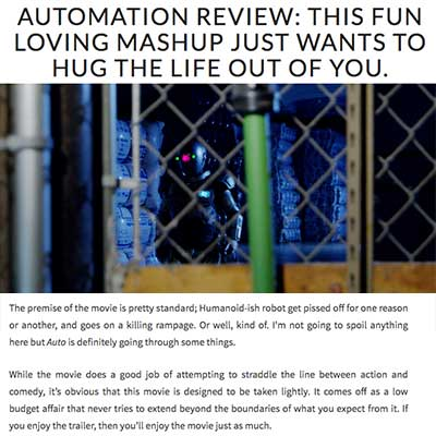 AUTOMATION REVIEW: THIS FUN LOVING MASHUP JUST WANTS TO HUG THE LIFE OUT OF YOU.