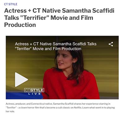 Actress + CT Native Samantha Scaffidi Talks