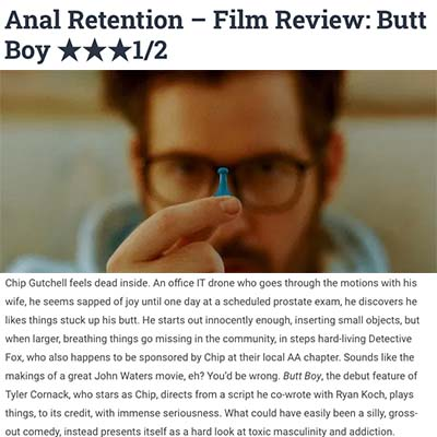 Anal Retention – Film Review: Butt Boy ★★★1/2