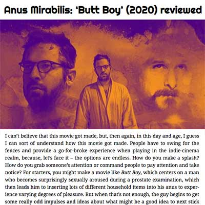 Anus Mirabilis: 'Butt Boy' (2020) reviewed