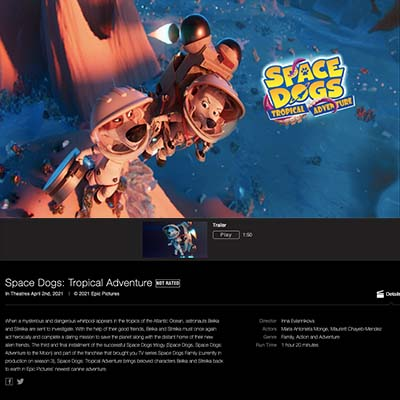 Apple Trailers - Space Dogs: Tropical Adventure