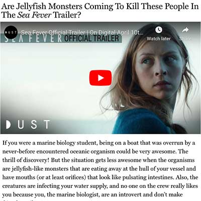 Are Jellyfish Monsters Coming To Kill These People In The Sea Fever Trailer?