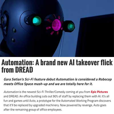 Automation: A brand new AI takeover flick from DREAD