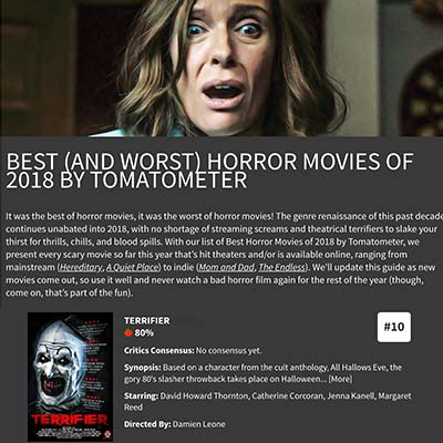 BEST (AND WORST) HORROR MOVIES OF 2018 BY TOMATOMETER