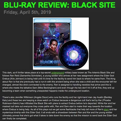 BLU-RAY REVIEW: BLACK SITE