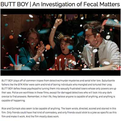 BUTT BOY | An Investigation of Fecal Matters