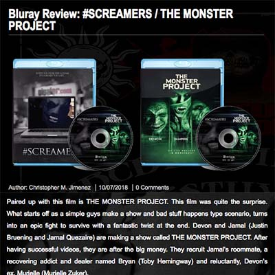 Bluray Review: #SCREAMERS / THE MONSTER PROJECT
