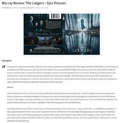 Blu-ray Review: The Lodgers – Epic Pictures