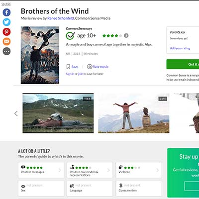 Brothers of the Wind Movie review by Renee Schonfeld, Common Sense Media