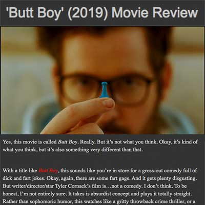 'Butt Boy' (2019) Movie Review