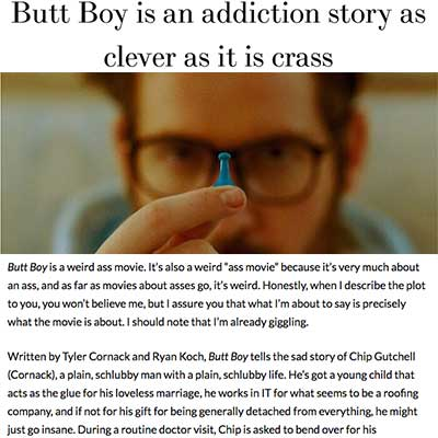 Butt Boy is an addiction story as clever as it is crass