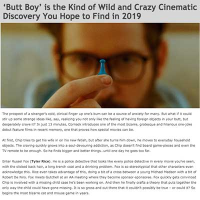 'Butt Boy' is the Kind of Wild and Crazy Cinematic Discovery You Hope to Find in 2019