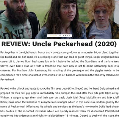 COMEDYFILM REVIEWSFILMSHORRORLATESTVOD REVIEW: Uncle Peckerhead (2020)