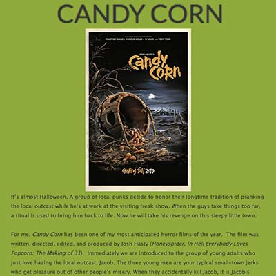 Candy Corn Movie Review (2019)
