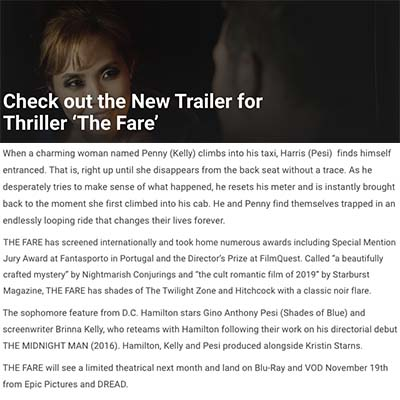 Check out the New Trailer for Thriller 'The Fare'