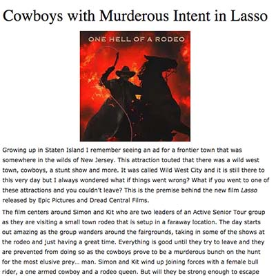 Cowboys with Murderous Intent in Lasso