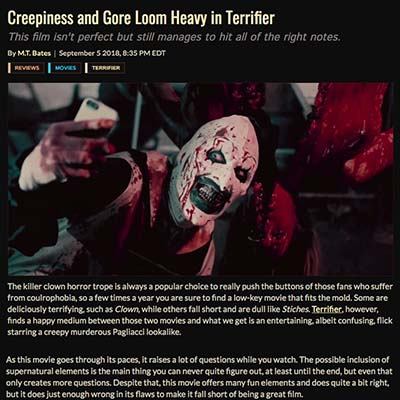 Creepiness and Gore Loom Heavy in Terrifier