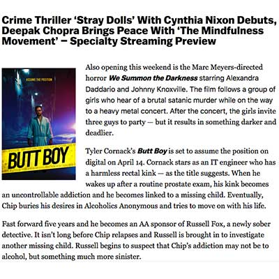 Crime Thriller 'Stray Dolls' With Cynthia Nixon Debuts, Deepak Chopra Brings Peace With 'The Mindfulness Movement' – Specialty Streaming Preview