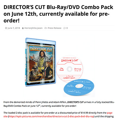 DIRECTOR'S CUT Blu-Ray/DVD Combo Pack on June 12th, currently available for pre-order!