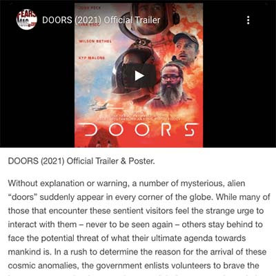 DOORS (2021) Official Trailer & Poster.