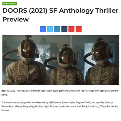 DOORS (2021) SF Anthology Thriller Preview