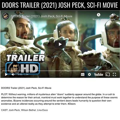 DOORS TRAILER (2021) JOSH PECK, SCI-FI MOVIE