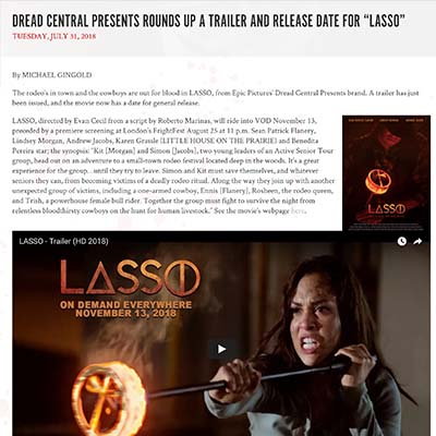 "DREAD CENTRAL PRESENTS ROUNDS UP A TRAILER AND RELEASE DATE FOR ""LASSO"""