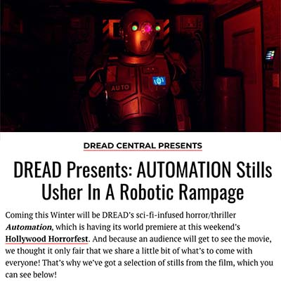 DREAD Presents: AUTOMATION Stills Usher In A Robotic Rampage