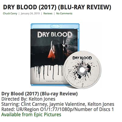 DRY BLOOD (2017) (BLU-RAY REVIEW)