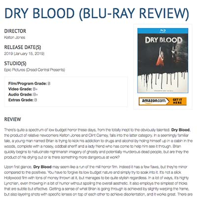 DRY BLOOD (BLU-RAY REVIEW)