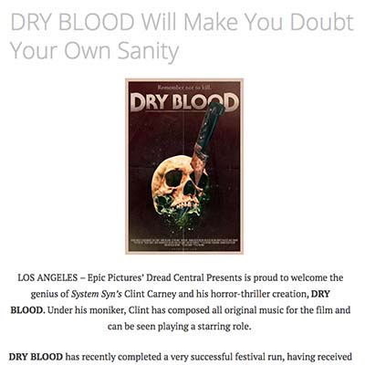 DRY BLOOD Will Make You Doubt Your Own Sanity
