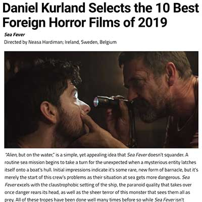 Daniel Kurland Selects the 10 Best Foreign Horror Films of 2019