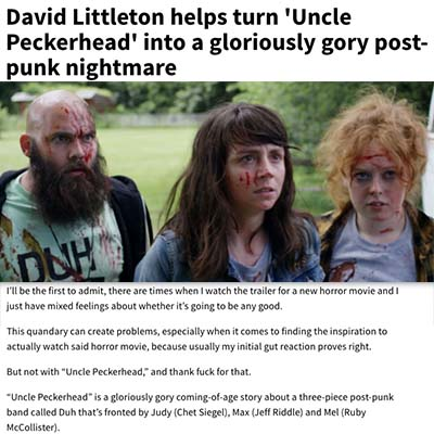 David Littleton helps turn 'Uncle Peckerhead' into a gloriously gory post-punk nightmare