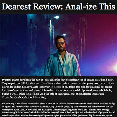 Dearest Review: Anal-ize This