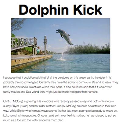 Dolphin Kick Review by Cinema365