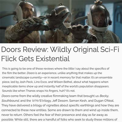Doors Review: Wildly Original Sci-Fi Flick Gets Existential
