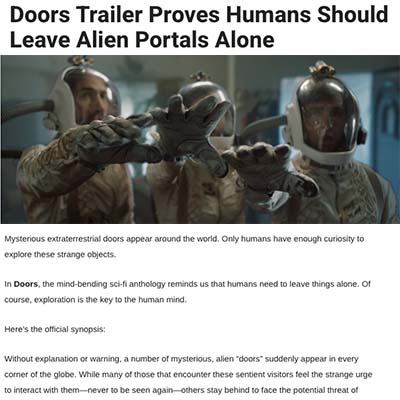 Doors Trailer Proves Humans Should Leave Alien Portals Alone