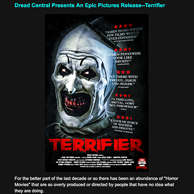 Dread Central Presents An Epic Pictures Release--Terrifier