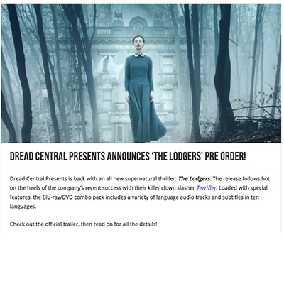 Dread Central Presents Announces 'The Lodgers' Pre Order!