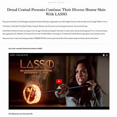 Dread Central Presents Continue Their Diverse Horror Slate With LASSO