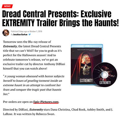 Dread Central Presents: Exclusive EXTREMITY Trailer Brings the Haunts!