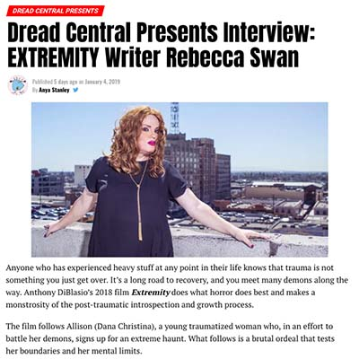 Dread Central Presents Interview: EXTREMITY Writer Rebecca Swan