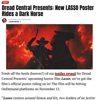 Dread Central Presents: New LASSO Poster Rides a Dark Horse