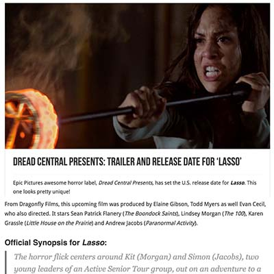 Dread Central Presents: Trailer and Release Date for 'Lasso'