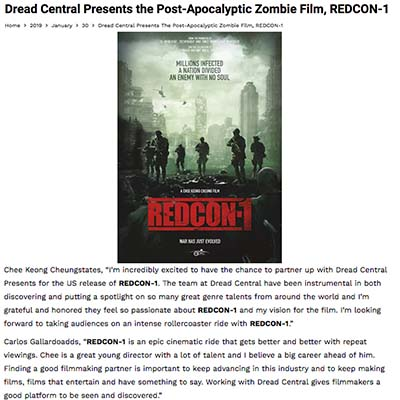 Dread Central Presents the Post-Apocalyptic Zombie Film, REDCON-1