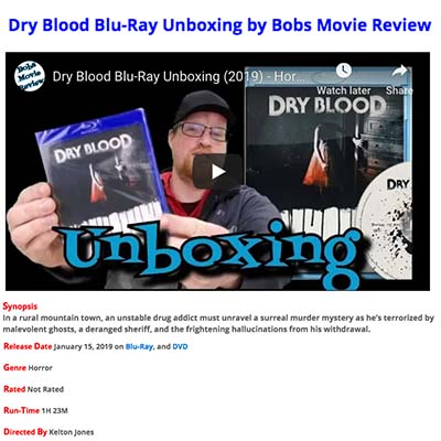 Dry Blood Blu-Ray Unboxing by Bobs Movie Review
